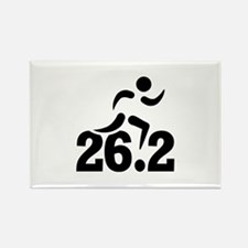 26.2 miles marathon Rectangle Magnet