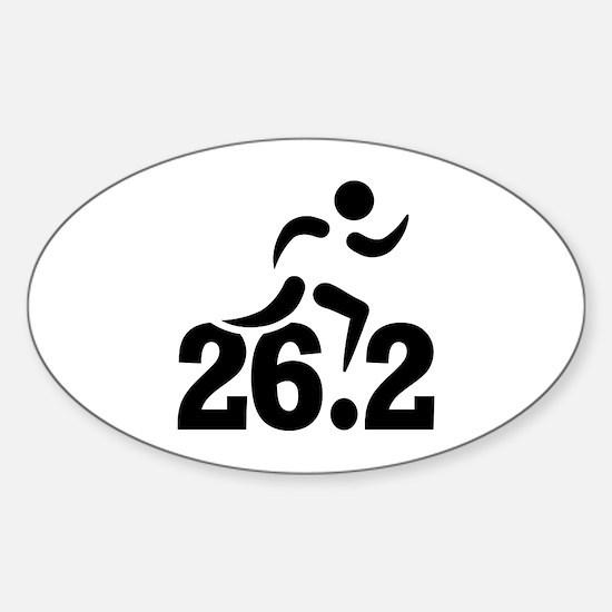 26.2 miles marathon Sticker (Oval)