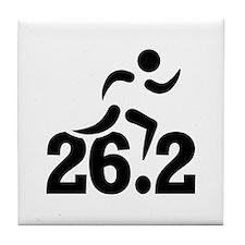 26.2 miles marathon Tile Coaster