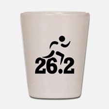26.2 miles marathon Shot Glass