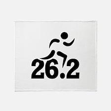26.2 miles marathon Throw Blanket