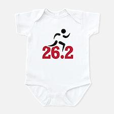 26.2 miles marathon runner Infant Bodysuit