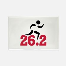 26.2 miles marathon runner Rectangle Magnet