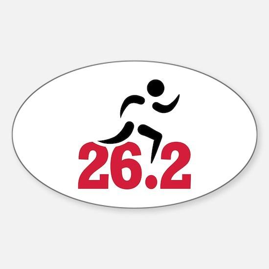 26.2 miles marathon runner Sticker (Oval)