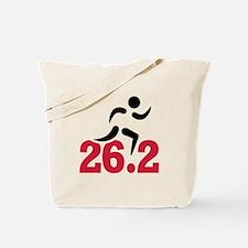 26.2 miles marathon runner Tote Bag