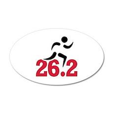 26.2 miles marathon runner Wall Decal