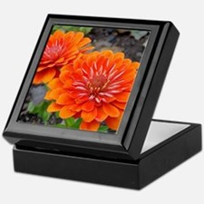 Cute Zinnia Keepsake Box