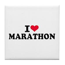 I love Marathon Tile Coaster