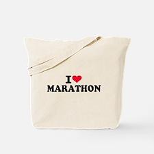 I love Marathon Tote Bag