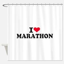 I love Marathon Shower Curtain