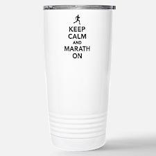 Keep calm and Marathon Travel Mug
