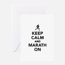 Keep calm and Marathon Greeting Card
