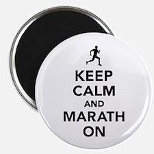 Keep calm and Marathon Magnet