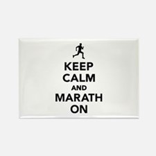 Keep calm and Marathon Rectangle Magnet