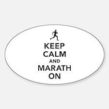 Keep calm and Marathon Decal