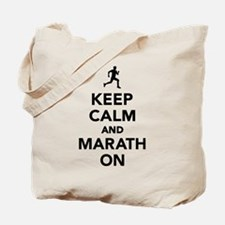 Keep calm and Marathon Tote Bag