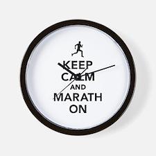 Keep calm and Marathon Wall Clock