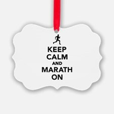 Keep calm and Marathon Ornament