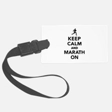 Keep calm and Marathon Luggage Tag