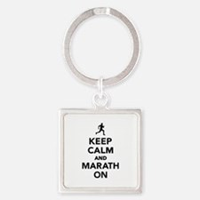 Keep calm and Marathon Square Keychain