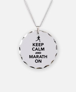 Keep calm and Marathon Necklace