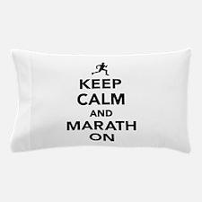 Keep calm and Marathon Pillow Case