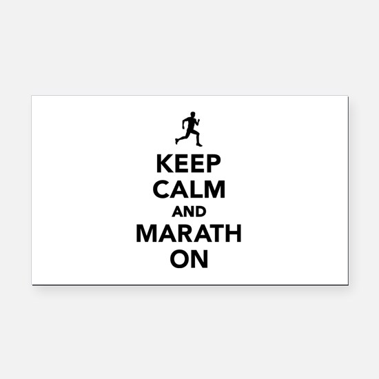 Keep calm and Marathon Rectangle Car Magnet
