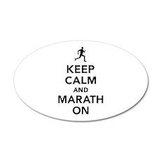 Keep calm and Marathon Wall Decal
