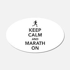 Keep calm and Marathon Wall Sticker
