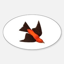 Cute Scarlet tanager Sticker (Oval)