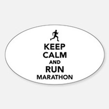Keep calm and run Marathon Decal