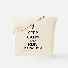 Keep calm and run Marathon Tote Bag
