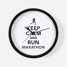 Keep calm and run Marathon Wall Clock