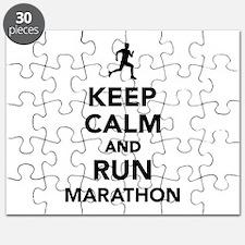 Keep calm and run Marathon Puzzle