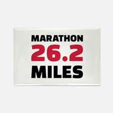 Marathon 26 miles Rectangle Magnet