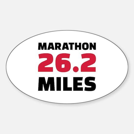 Marathon 26 miles Sticker (Oval)