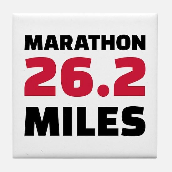Marathon 26 miles Tile Coaster