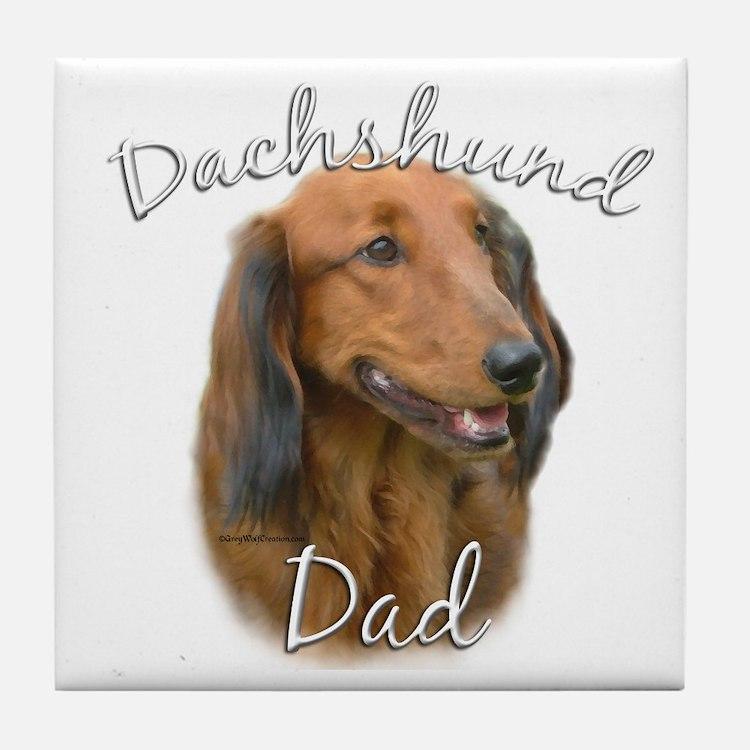 Dachshund Dad2 Tile Coaster