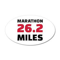 Marathon 26 miles Wall Decal