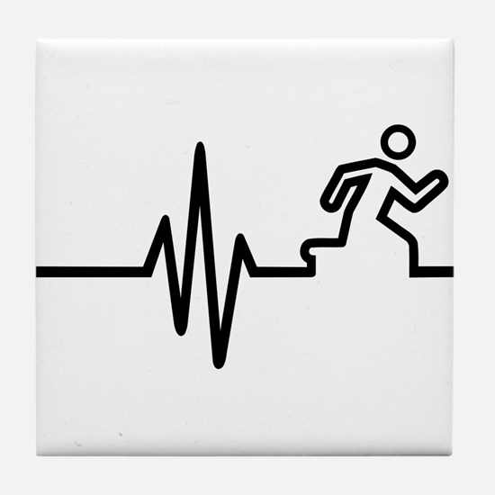 Runner frequency Tile Coaster