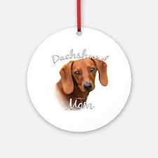 Dachshund Mom2 Ornament (Round)