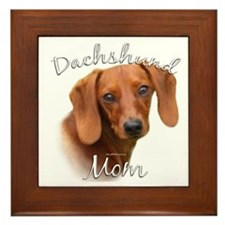 Dachshund Mom2 Framed Tile