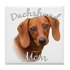 Dachshund Mom2 Tile Coaster