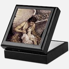 Funny Angel Keepsake Box