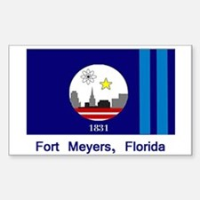 Fort Meyers FL Flag Rectangle Decal