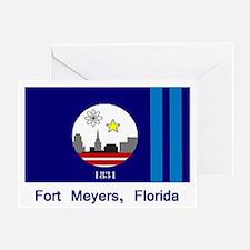 Fort Meyers FL Flag Greeting Card
