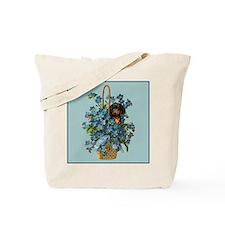 Dachshund in a Flower Basket Tote Bag