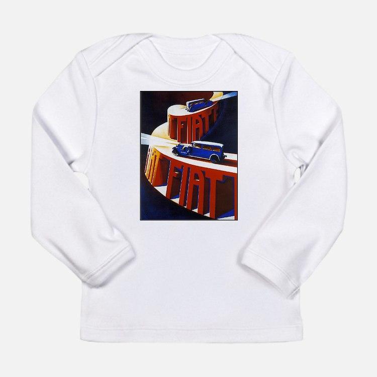 Vintage poster - Fiat Long Sleeve T-Shirt