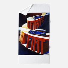 Vintage poster - Fiat Beach Towel