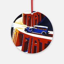 Vintage poster - Fiat Round Ornament